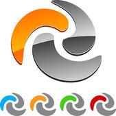 Swirl element. — Stock Vector