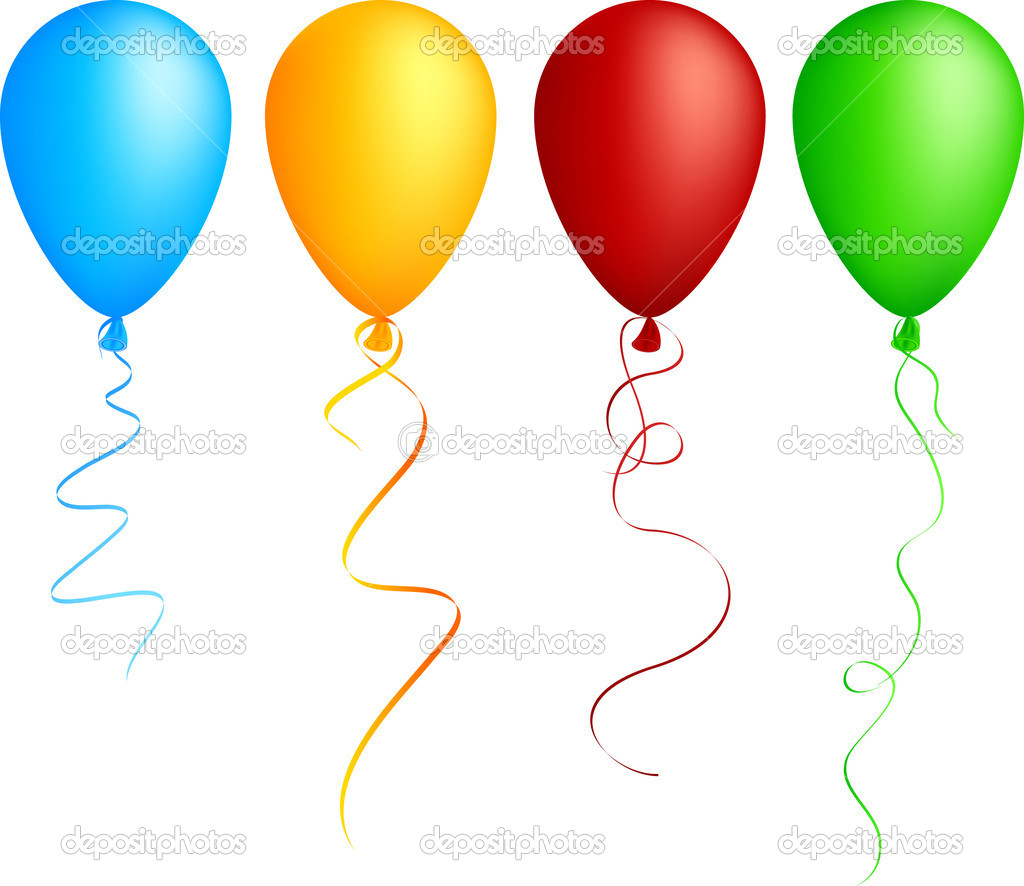 Realistic color balloons. Used mesh.  — Stock Vector #2862398
