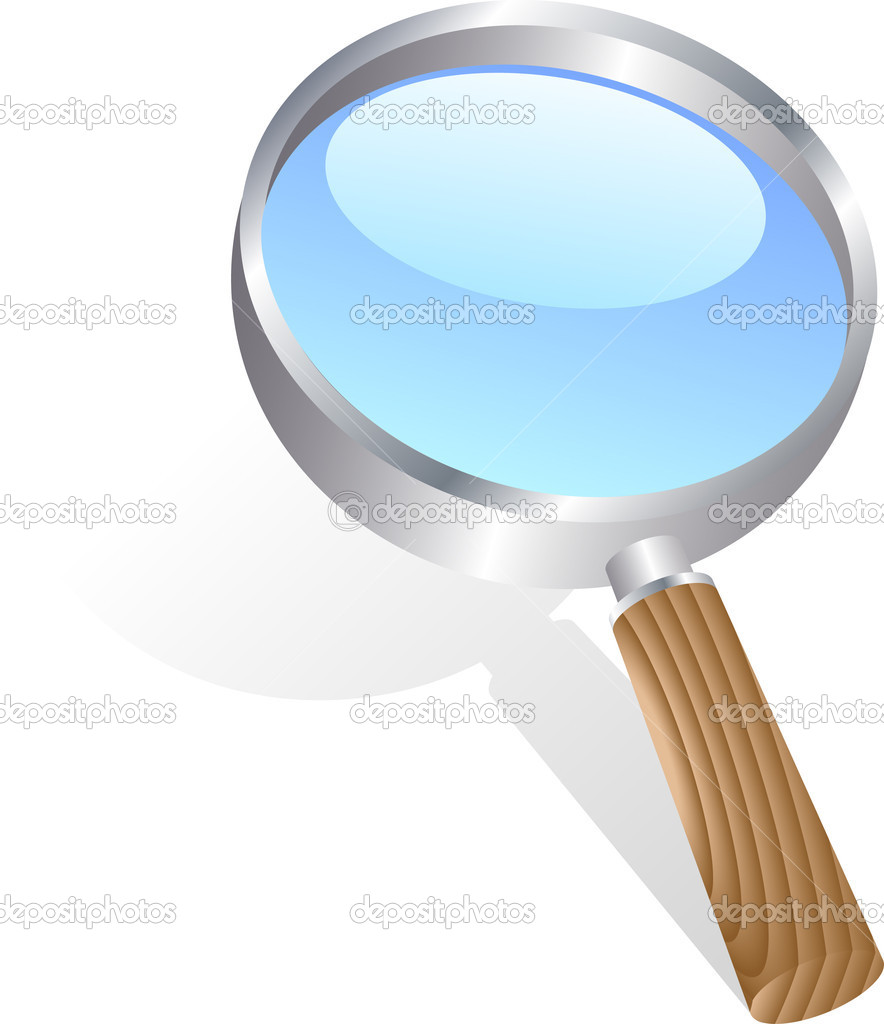 Icon of magnifying glass. Vector illustration.  Stock Vector #2862409