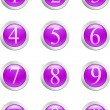 Numbers - violet button. [Vector] — Stock Vector