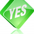 Stock Vector: Yes button.