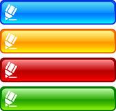 Botões de lápis. — Vetorial Stock