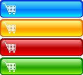 Shopping buttons. — Stock Vector