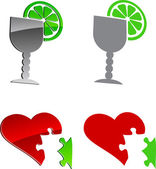 Tequila and cardio. — Stock Vector