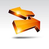 3d return arrows. — Stock Vector