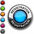 Registration button. - Stock Vector