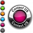 Contact us button. - Imagens vectoriais em stock