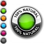 100% Natural button. — Stock Vector #2893463