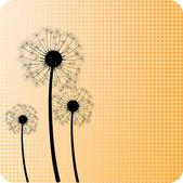 Dandelions. — Stock Vector