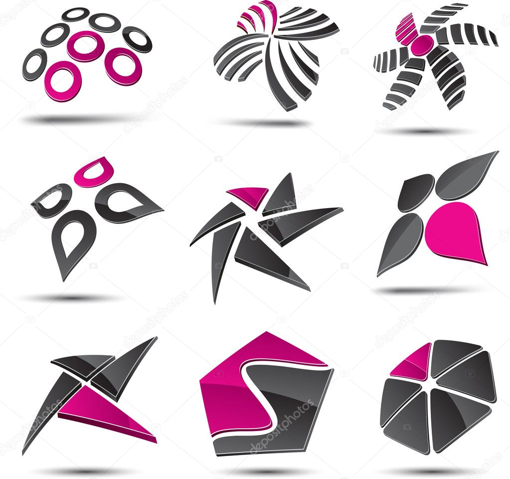 Abstract design elements. Vector illustration. — Stock Vector #2893415
