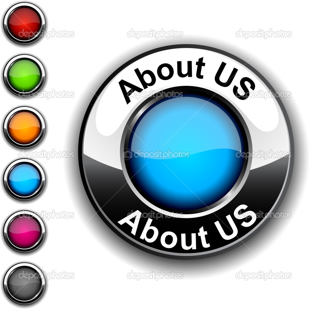 About us  realistic button. Vector.   — Stock Vector #2893442