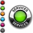Stock Vector: Services button.