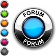 Stock Vector: Forum button.