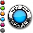 Watch now button. — Stock Vector