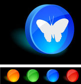 Butterfly Icon. — Vector de stock