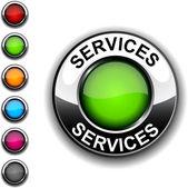 Services button. — Stock Vector