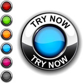 Try now button. — Stock Vector