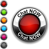Chat now button. — Vetor de Stock