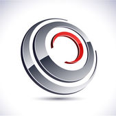 Abstract 3d round icon. — Stockvektor
