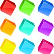 Glossy cubes. - Stock Vector