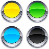 Yuvarlak 3d düğmeleri. — Stok Vektör