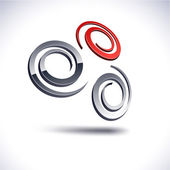 Abstract 3d spiral icon. — Stock Vector