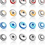 Set of modern emblems. — Stock Vector