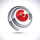 3D E letter icon. — Stock Vector