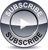 Subscribe round button. — Stock Vector