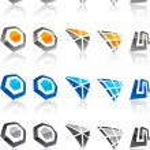 Set of modern emblems. — Stock Vector #3921327