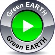 Royalty-Free Stock Vector Image: Green Earthround button.