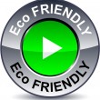 Eco friendly round button. — Stock Vector