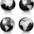 Vector de stock : Black Earth balls.