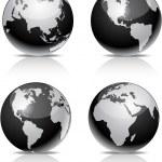 bolas de tierra negra — Vector de stock