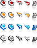 Conjunto de emblemas modernos. — Vetorial Stock