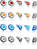 Set van moderne emblemen. — Stockvector