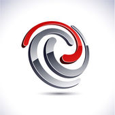Abstract 3d swirl icon. — Stock Vector