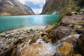 Lagunas lluanganuco — Stock Photo