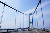 Suspension bridge in Denmark, horizontal — Stock Photo