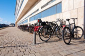 Bikes near the Opera building — Stock Photo