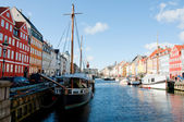 Nyhavn channel in Copenhagen — Stock Photo