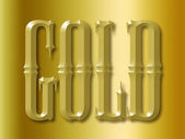 Gold 3d text — Stock Photo