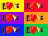 Love 3d text — Stock Photo