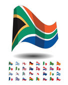 Countries flags icons — Stock Vector