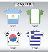 Icônes de drapeaux de pays, 2 de 8 — Vecteur