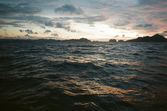 Choppy sea at dusk — Stock Photo