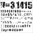 Stockvektor : Grunge number and symbol - 2