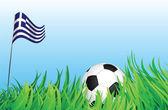 Piłka nożna plac zabaw dla dzieci, grecja — Wektor stockowy