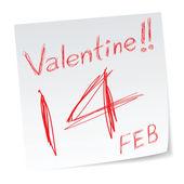 Valentine kalendář — Stock vektor