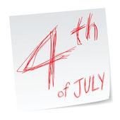 4 июля — Cтоковый вектор